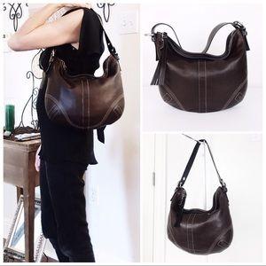 Coach Soho Espresso Leather Hobo Shoulder Bag